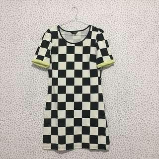 Black n white checkered dress