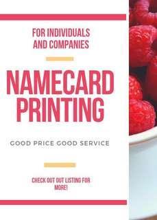 Name card printing services - Spot UV/Matt Lami.