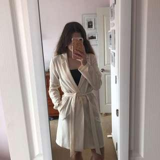 Cream crepe cardigan
