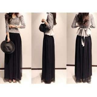 Black Pants+ Dress- free Size- Ready Stocks