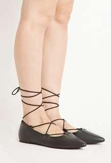 Forever 21 tie up flats