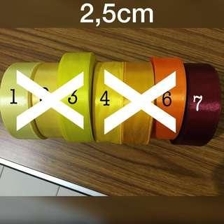 Pita Satin 2,5cm / 1inch