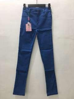 Blue Stretchy Jeggings Legging Jeans