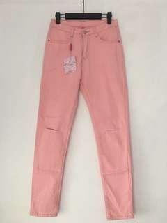 Light pink stretchy legging jeans Jegging