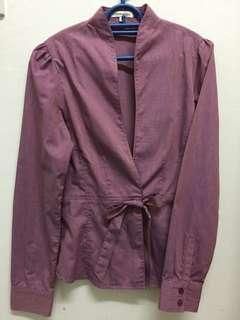 Purple casual top/outerwear