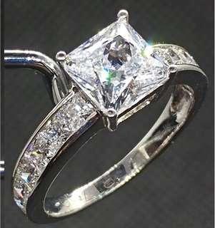Square Shape Cubic Zirconia Ring