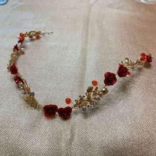新娘花花頭飾髮環 bridal hair accessory