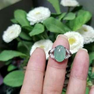 客來精美翡翠💚代加工, 精緻設計款18K白金鑲嵌鑽石💎戒指😍