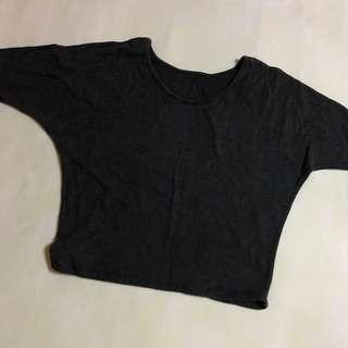Gray batwing top