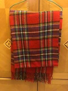 格仔 聖誕 頸巾 scarf 披肩