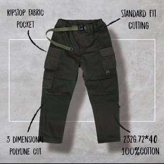 【收購】Goopi 17 A/W 3-D Patchwork Jungle Pants 軍綠 二號
