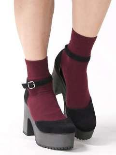 WEGO Black Platform High Heel Boots