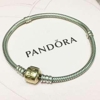 Pandora Bracelet 14k two tone 17cm