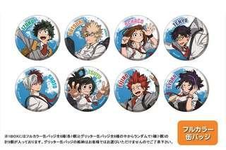(PO/SPILT) My Hero Academia Tin Badge Collection