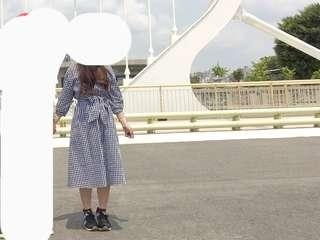 黑白格紋 格子洋裝 連身裙