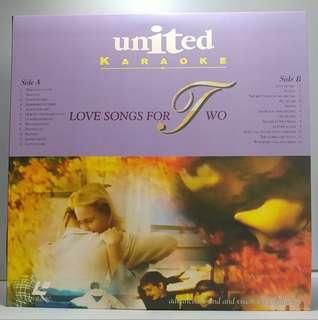 中古 絕版 LD LaserDisc 卡拉OK United Karaoke Love Songs for Two When I fall in Love