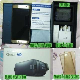 SAMSUNG S7 EDGE with unused VR set