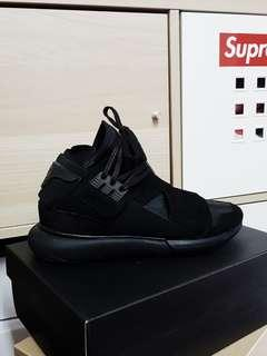 Y3 Qasa High Triple Black US8.5