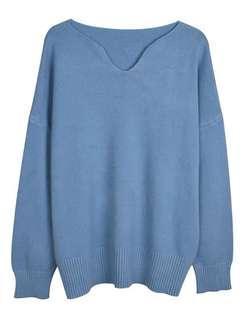 🚚 全新-韓版純色寬鬆顯瘦慵懶毛衣