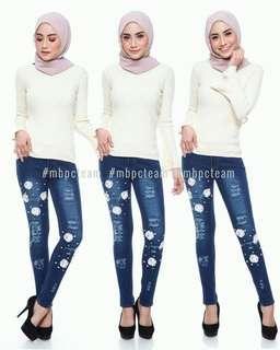 3D Flowers Jeans