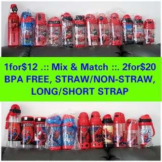 1for$12 2for$20 Star Wars Spiderman PJ Mask Tayo Thomas Paw Patrol Minion Spiderman Avengers Captain America Ironman Cars McQueen Water bottle