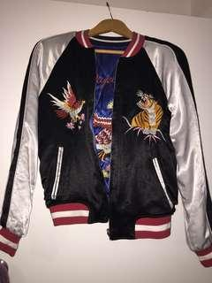 Topshop Japanese embroidered bomber jacket