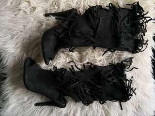 Open toe Boot Size 8