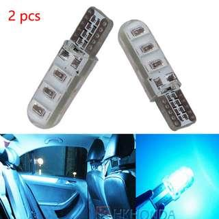 Ice blue T10 W5W 6 SMD Canbus Silica Gel LED Super Bright (1 Pair)