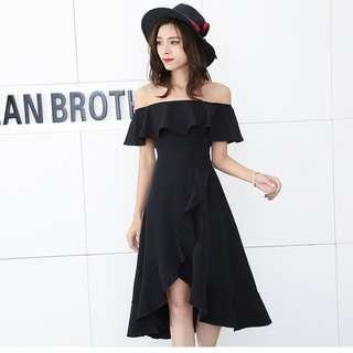 Off Shoulder Black Dress