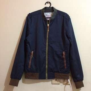Zara Man Denim Couture Army Bomber Jacket