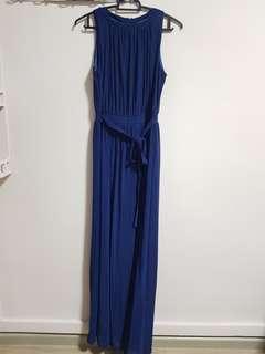 Navy Blue Sleeveless Maxi Dress