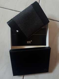 MontBlanc Meisterstuck Black Leather and Canvas Business Card Holder 106728