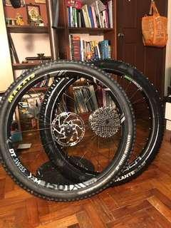DT SWISS XM1501 and M1850 wheelset with tyres!!