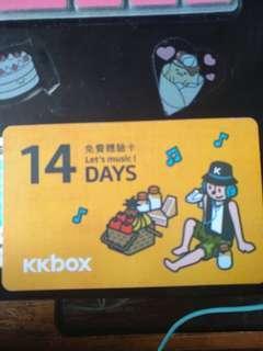 KKbox 14天免費體驗卡