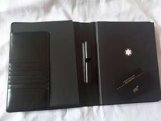 MontBlanc Leather Meisterstuck Notebook