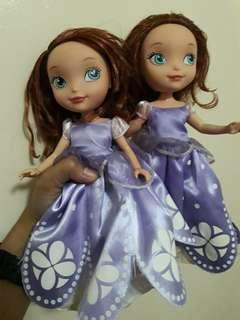 Sofia the first dolls 3 for 1,000