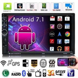 """**SPECIAL PRICE** Car Radio 100% New Android 8802 HD 1080P 7"""" Touch Screen MP5 Player Bluetooth WiFi GPS Rearview Camera"""