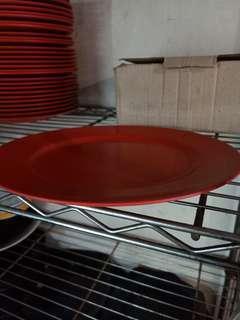 Melamine red plate