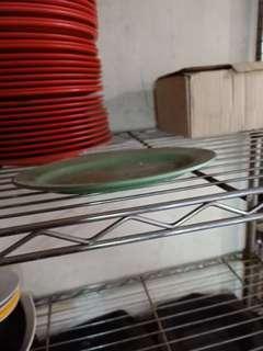 Melamine green oval medium plate