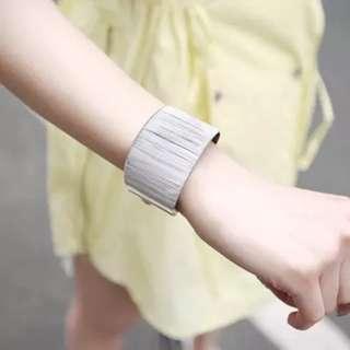 🚚 Korean Style Silver Thick Bangle