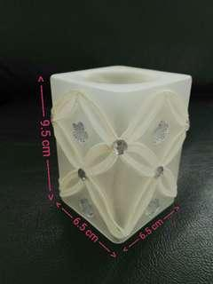 [New] Glass Candle Holder with Lace喱士玻璃蠟燭台