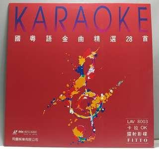 中古 絕版 LD LaserDisc 飛圖 8003 國粵語金曲精選 28 首 部份 原唱歌手 MV MTV 血染的風采 酒干淌賣無 大約在冬季 不了情 晚風