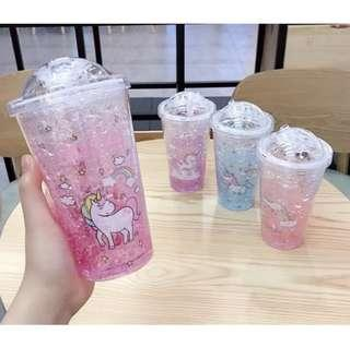 Unicorn crystal iced tumbler