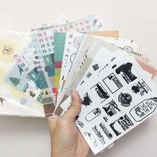 Free 35張 貼紙 Sticker Deco Masking Tape Schedule 手帳
