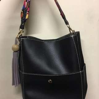 黑色皮革shoulder Bag