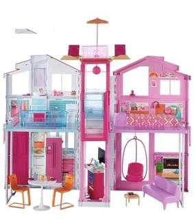 Barbie doll three storey townhouse playset barbie house