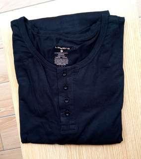 美牌 Layer 8 男裝黑色長袖内衣