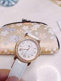 Tommy Hilfiger 白色皮帶手錶