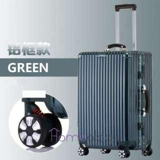 🚚 5 Sizes! Green 20-29 Inch Travel Aluminum Alloy Frame Luggage Bag Suitcase TSA Lock