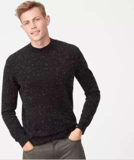 Frank and Oak Black Wool Sweater